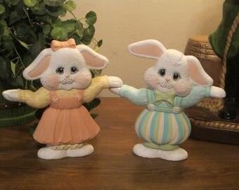 Ceramic Easter Bunnies.