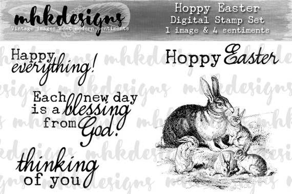 Hoppy Easter Digital Stamp Set