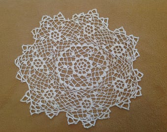 Small Ivory Round Crocheted Doily