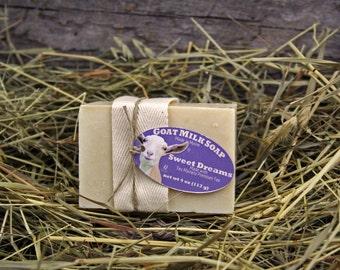 Sweet Dreams Goat Milk Soap. Lavender Goat Milk Soap. Herbal Tea Soap. Chamomile Rose Goat Milk Soap.