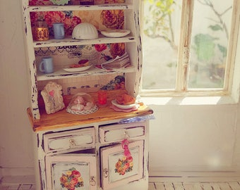 roses cupboard cottage style kitchen furniture 1 inch furniture dollhouse kitchen