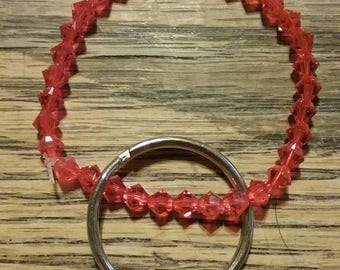 Orange Beaded Key Chain 35