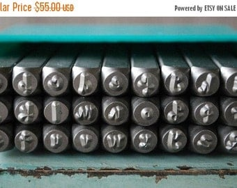 Spring Sale Brand New 4mm Tootsie Roll-Cashew Apple Ale Font Alphabet Letter Lowercase Stamp Set- 4MM Lowercase Jewelry Metal Stamps- SGCH-T