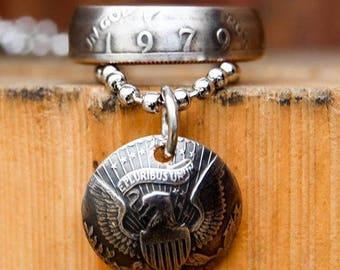 Clad JFK Half Dollar Ring & Necklace