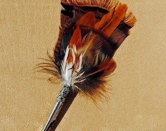 F007 Feather pin, hat pin, FREE US SHIPPING
