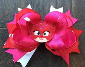 PJ Masks Owlette Amaya Disney Jr. hair bow clip
