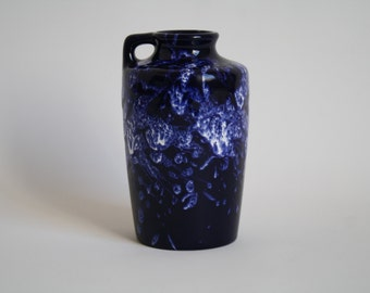 Dark Blue Marei Keramik Fat Lava vase