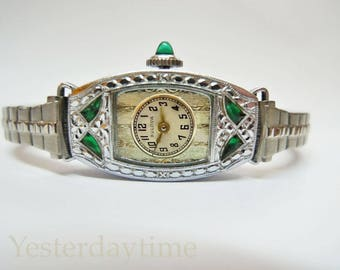 Bulova Miss America Ladies Watch 1924 Swiss Made 7 Jewel Manual Movement