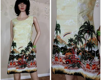 vintage dress by Evergreen Island made in Hawaii size L