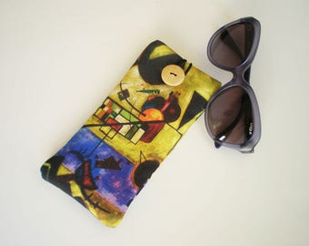 Glasses case, sunglasses case, eyeglasses case, Kandinsky art, Soft eyeglass case, Case for sunglasses, Quilted eyeglass case, Kandinsky