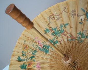 Vintage Japanese Chinese Umbrella Parasol. Photo Shoot, Room decor Idea.