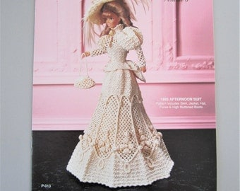Crochet Collector Costume Vol. 6 - 1895 Afternoon Suit - Fashion Doll Crochet Pattern P-013