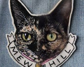 Custom Pet Portrait Embroidered Patch/Brooch