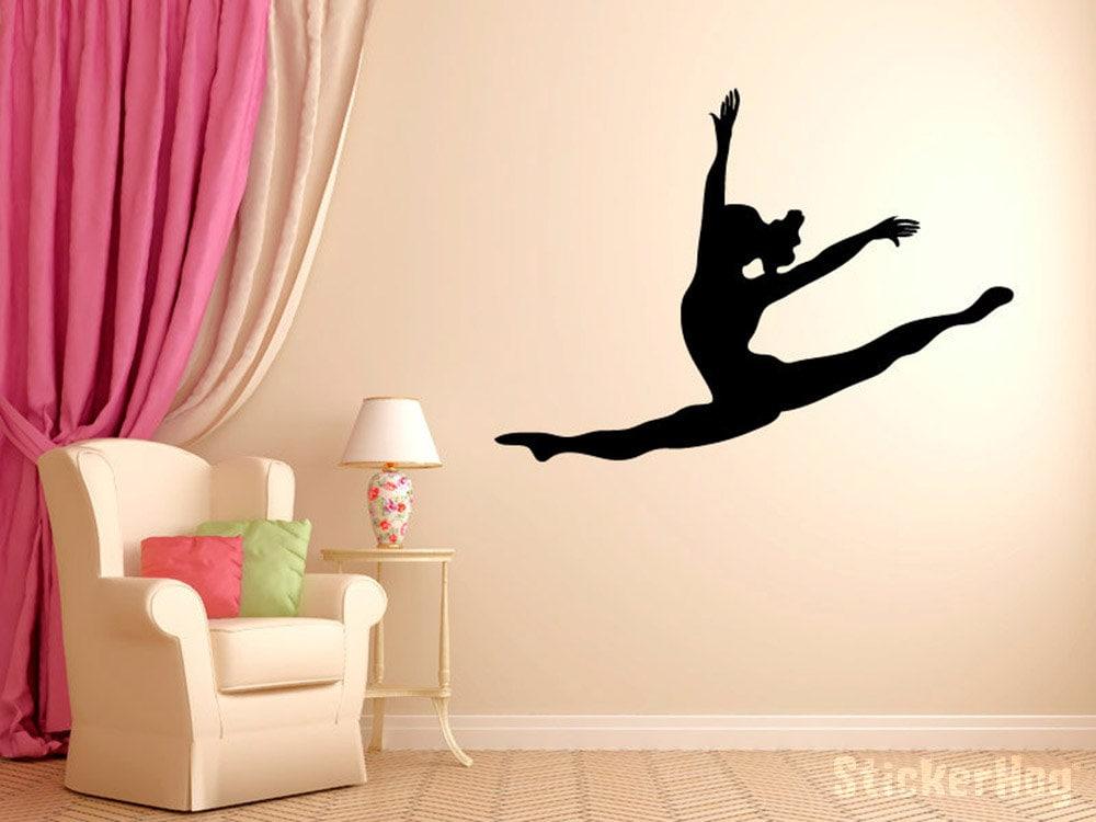 Leaping Dancer Wall Decal Vinyl Sticker Dance Studio Bedroom