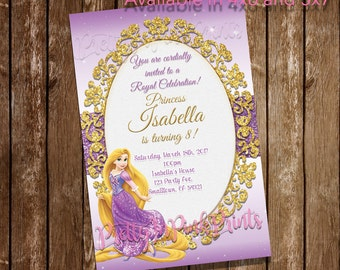 Disney Princess Rapunzel Invitation