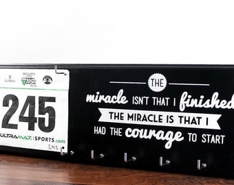 Running medal holder and race bib hanger - The miracle race bib rack - Running medal rack race bib and medal holder
