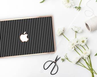 Platinum Edition Thin Stripes with w/Rose Gold Edge Hybrid Hard Case for Apple Mac Air & Mac Retina , New Macbook 2016