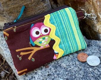 Owl Coin Purse, Girls Zipper Wallet