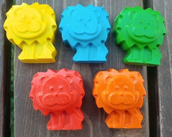 Lion Crayons set of 10 - Zoo Party Favors