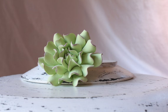 Succulent Hair Pin. Hair bobby pin polymer clay flowers.