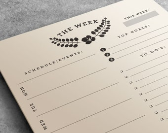 Weekly Planner Notepad | To Do List