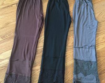 Girl's Black Lace RUFFLE Pants - Black Finn Ruffle Pants - FINN Style Ruffle Pants