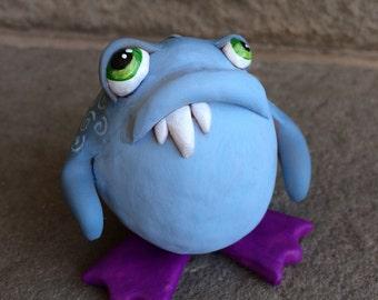 Sad Blue Monster