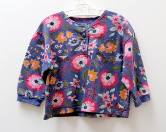 Vintage St Michael sweater in floral design, age 2 years