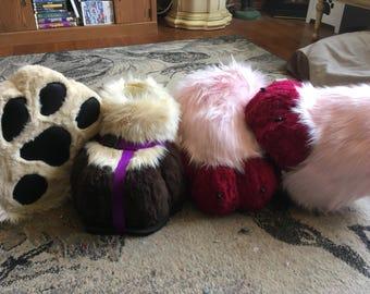 Fursuit feet paws- costume feet