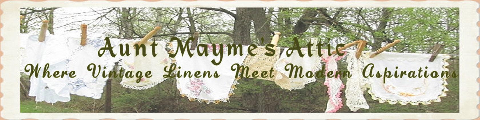 Aunt Maymes Attic Vintage Linens meet Modern Design