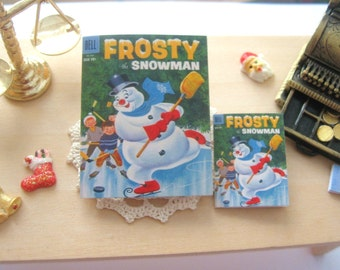 dollhouse comic christmas frosty the snowman  vintage inspired 12th scale or playscale lakeland artist