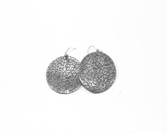 Abstract Sterling Floral Earrings
