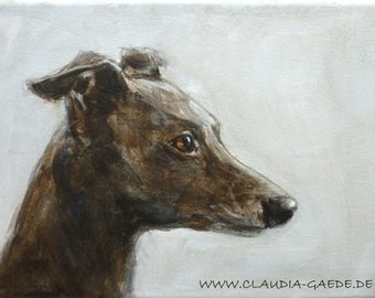 Italian Greyhounds  original painting