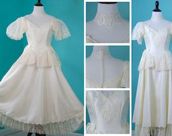 NWT Vintage Alfred Angelo Ivory Lace Wedding Dress ILGWU