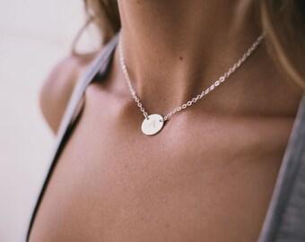 Lena -  Gold, Silver or Rose Gold Monogrammed Necklace