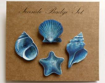 Seaside Badge Set