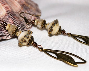 Artisan Handmade Lampwork Bead Earrings  OOAK