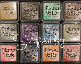 Ranger Tim Holtz DISTRESS OXIDE Ink Pads- Set Bundle of ALL 12 Colors (In Stock) Free Shipping