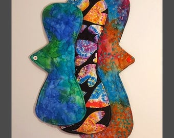 Postpartum Cloth Pads / Super Heavy Essential Ovvernight Cloth Pads. 12 inch, 14 inch and 16 inch cloth pads