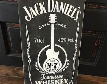 Jack Daniel's, wooden sign