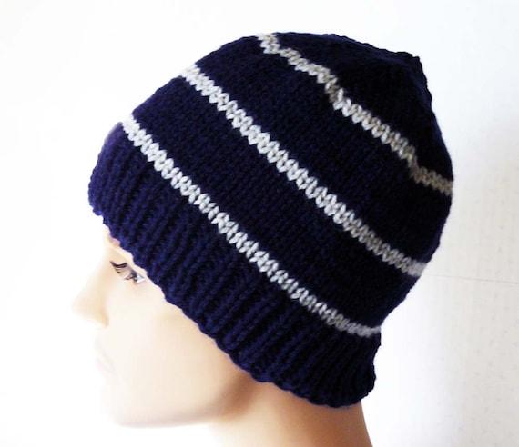 Free Knitting Baby Booties Patterns : Knitting PATTERN Knit Beanie Pattern Mens Knit Hats