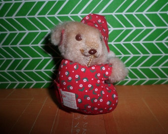 Russ Vintage Mini Koala Bear Plush Clip in Pajamas SO CUTE!