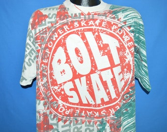 90s Lightning Bolt Skate All Over Print t-shirt Extra Large