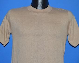 70s Stedman Hi Cru Beige Blank t-shirt Small