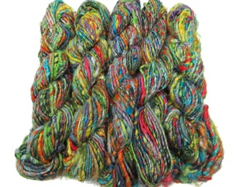 Banana Silk Vegan Yarn,   Multi Mix