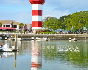 Reflection / Harbourtown Lighthouse Hilton Head Island Print Photography