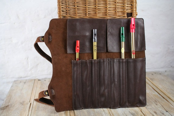Large Leather Whistle Case  - 15 inch height