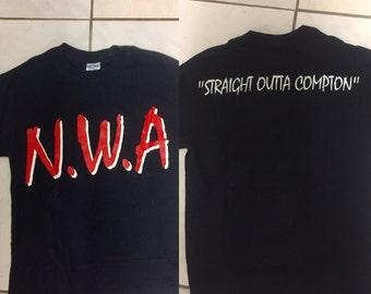 NWA original merch t shirt size S / customized ( shortened)