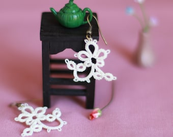 Tatted Lace Earrings - Casual Jewelry