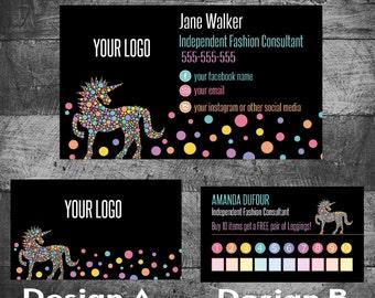 Lularoe Unicorn business cards,   Seller Marketing, Unicorn  business cards, love my leggings, Custom business, Pop Ups Chalk, digital file